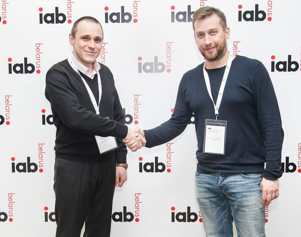 Декан ФМк Цыганков А.А. и Кирилл Лащенко CEO IAB
