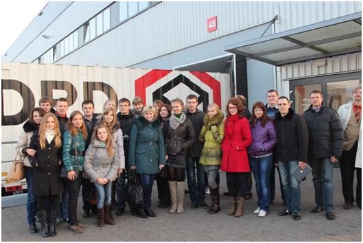 Студенты, магистранты, аспиранты и преподаватели факультета маркетинга и логистики в программе профессиональной мобильности.