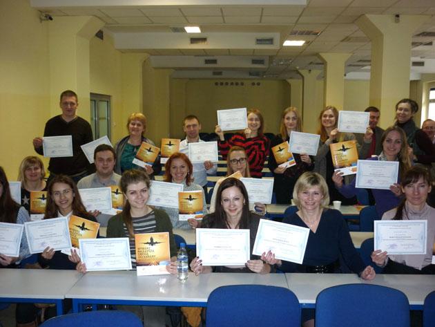 По окончанию образовательной поездки всем участникам вручили сертификаты международного образца