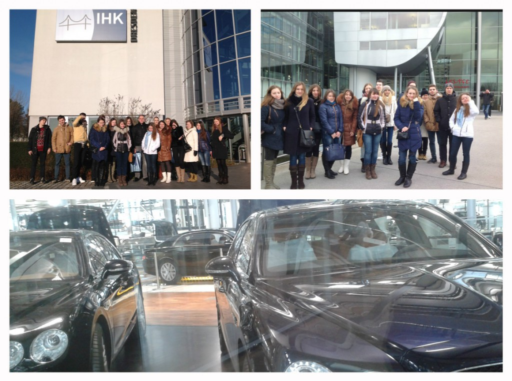 Посещение торгово-промышленной палаты в Дрездене и стеклянной мануфактуры Volkswagen VW Phaeton и Bentley
