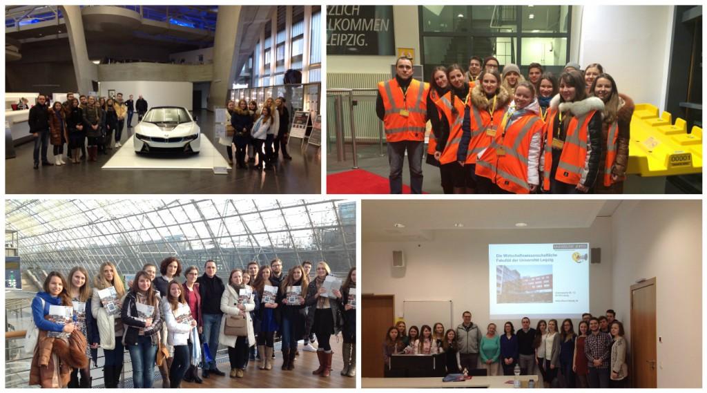 Посещение концерна BMW, логистического хаба DHL, выставочного комплекса Leipziger Messe, Лейпцигского университета