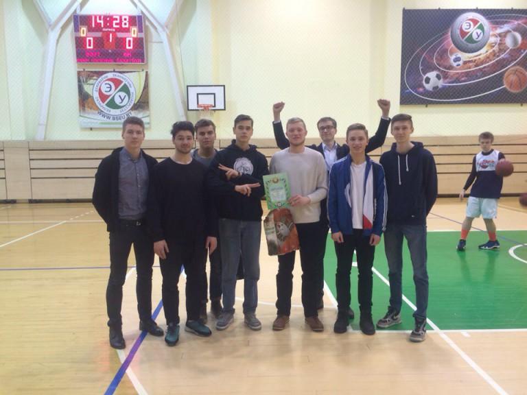 Команда ФМк по баскетболу на вручении