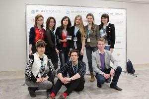 Крина Куприянович с командой участников BigGame by Marketorium