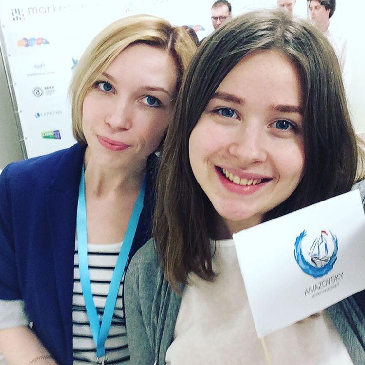 Витория Изотова и Вероника Пропер, студентка ФМк участвует в Marketorium