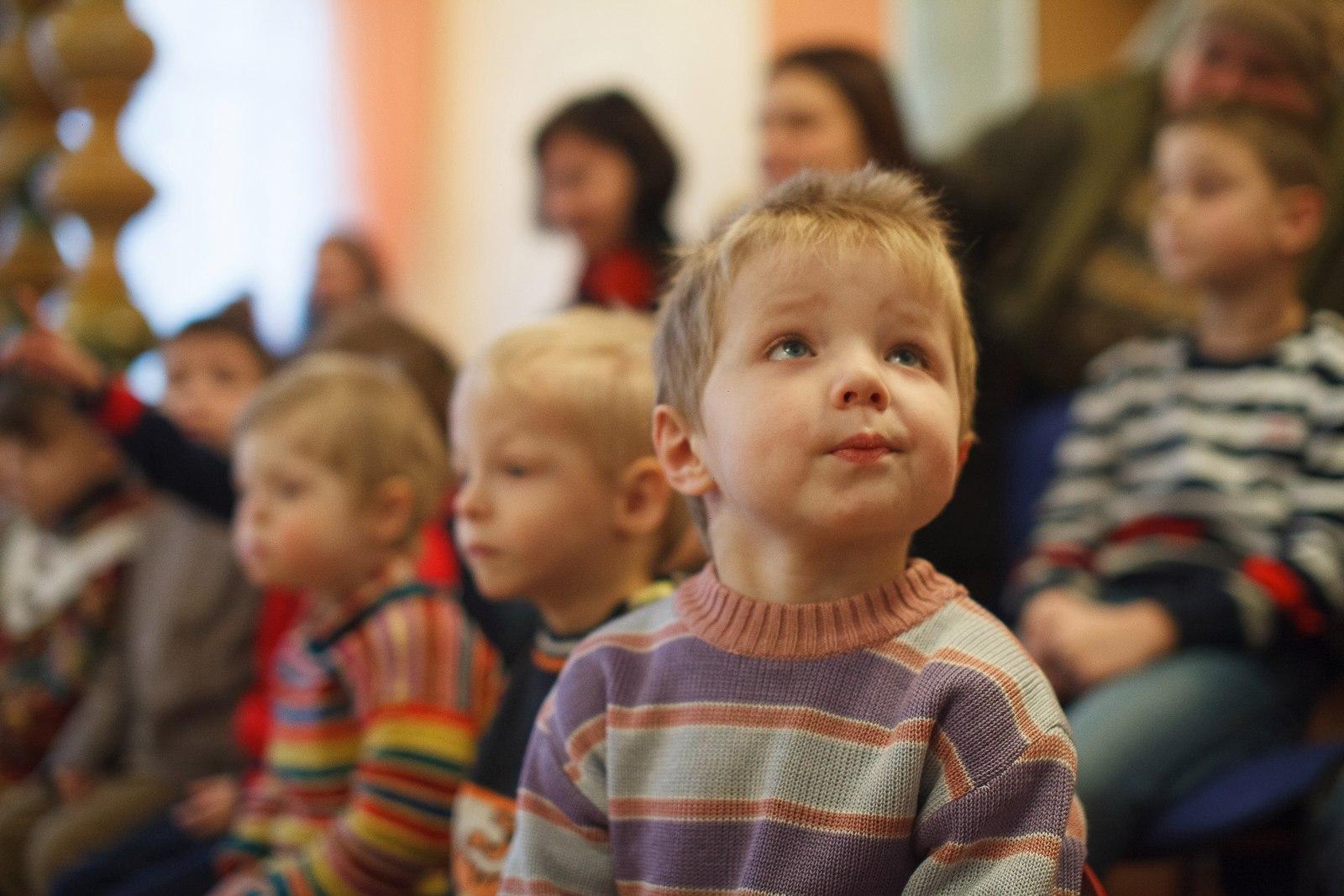 Ждановичский детский дом. Маленькие зрители