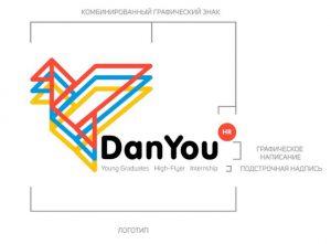 Логотип проекта DanYOU. Автор Арсений Кугейко.
