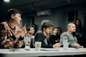 Жюри: Дарья Герасименко, Павел Дедков, Сергей Шыма (слева-направо)
