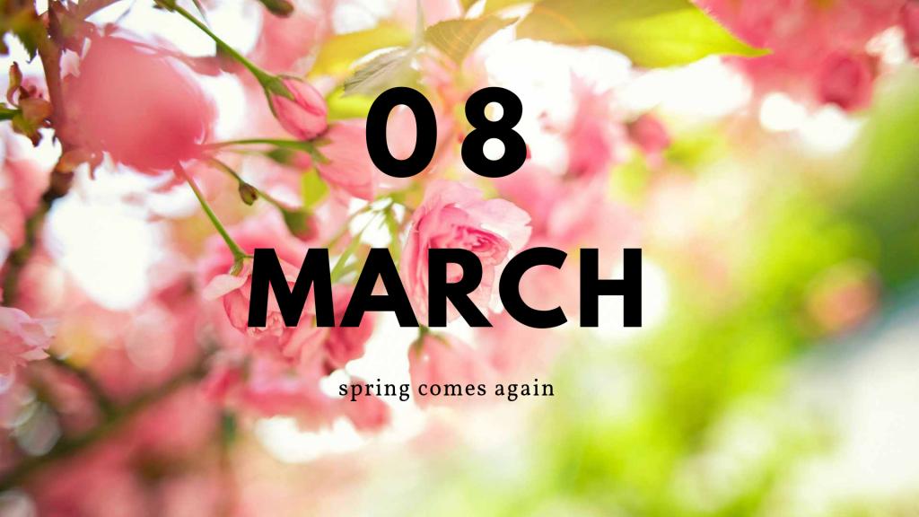 Поздравления с нежным и солнечным 8 марта